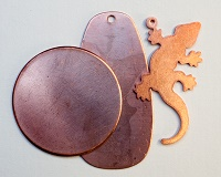 Copper shapes to enamel